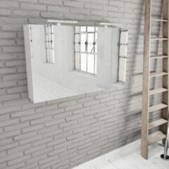Zaro Beam mat witte spiegelkast 120x70x16cm 2 deuren