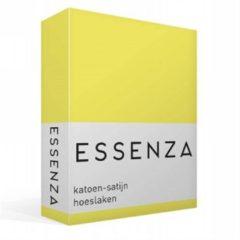 Gele Essenza Satin Hoeslaken - 100% Katoen-satijn - 1-persoons (90x210 Cm) - Mellow Yellow