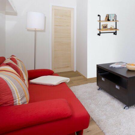 Afbeelding van Naturelkleurige Relaxdays boekenplank industrieel 2 etages - keukenrek retro - wandrek - hangend rek hout