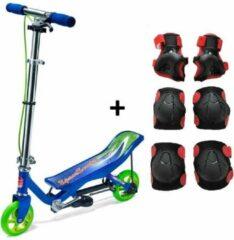Space Scooter Junior Blauw + Gratis beschermset - Step