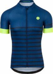 AGU Melange Fietsshirt Essential Heren Fietsshirt - Maat XXXL - Blauw