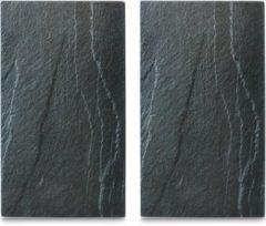 Zeller Present Herdabdeck-/Schneideplatten »Schiefer«, 2-er Set, 30 x 52 cm