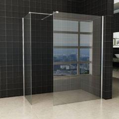 Douche Concurrent Inloopdouche Set Miami 130x200cm 80x200cm Antikalk Helder Glas Chroom Profiel 10mm Veiligheidsglas Easy Clean