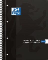 Oxford SCHOOL collegeblok geassorteerde kleuren formaat A4+ 90 vel geruit 5 mm