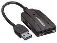 Manhattan USB 3.0 Multi-Card Reader & Writer - Kartenleser - 24 in 1 (MMC, SD, RS-MMC, MMCmobile, microSD, SDHC, microSDHC, SDXC, microSDXC) 101660