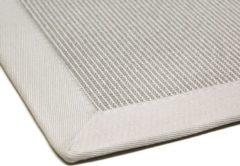 Linea Naturale vloerkleed tbv in/outdoor gebruik in Sisal-look Naturino Rips zilver/off-white 160x230cm
