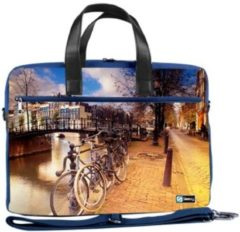 Oranje False Laptoptas 17,3 / schoudertas Amsterdam - Sleevy - reistas - schoudertas - schooltas - heren dames tas - tas laptop