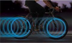 Blauwe Benson bike parts Fietslicht voor ventiel 2 delig