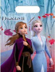 Stemen Disney Frozen 2 thema uitdeelzakjes 12 stuks - Kinderfeestje/verjaardag uitdeelzakjes feestzakjes