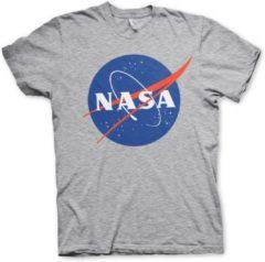 Grijze Nasa Officieel Logo Nasa Jongens T-shirt Maat S