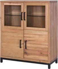 Möbel Ideal Highboard 120 x 50 x 145 cm Eiche Massivholz