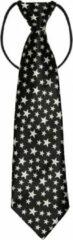 Fako Fashion® - Kinderstropdas - Print - Elastiek - Sterretjes Zwart