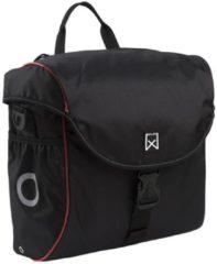 Willex Pakaftas 300 serie - Enkele Fietstas - 19 l - Zwart/Rood