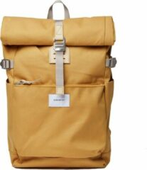 Gele Sandqvist Ilon Backpack yellow with natural leather Laptoprugzak