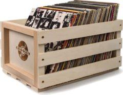 Bruine Crosley Opslag Krat Voor Opbergen Vinyl LP's – Hout – 35x31x45 (BxHxD)