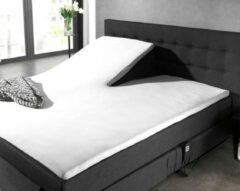 Hoogwaardige Percale Katoen Splittopper Extra Lang Hoeslaken Wit   160x220   Ademend En Zacht   Duurzaam