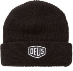 Deus Shield Beanie DMW47269 BLACK Zwart maat One size