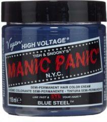 Manic Panic Semi permanente haarverf Blue Steel Classic Blauw/Zilverkleurig
