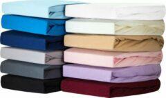 Double Jersey Silky Jersey - Zachte Jersey Hoeslakens 100% Katoen - 100x200x30 Zwart