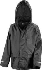 Result Regenjas winddicht zwart voor meisjes - Regenpak - Regenkleding voor kinderen L (134-146)