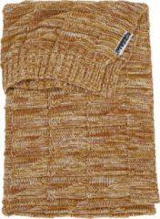 Meyco ledikantdeken Block mixed - 100x150 cm - okergeel/camel