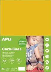 APLI Goudgeel Karton A4 170 g/m² - 50 vel