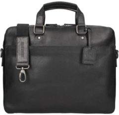 Zwarte Leonhard Heyden Dakota Briefcase 1 Compartment black2