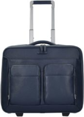 Modus 2-Rollen Businesstrolley Leder 44 cm Laptopfach Piquadro black
