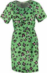 Aaiko gevoerd groen jurkje - Maat XS