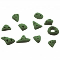 Groene KMZ Holds - Spax 2 - Klimgrepenset 11 st. olijfgroen