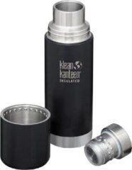 Zwarte Klean Kanteen TKPro Vacuum Insulated Bottle 0.5L shale black matte