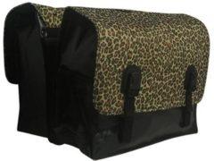 Beck Classic Panther - Dubbele Fietstas - 45 l - Zwart;Bruin