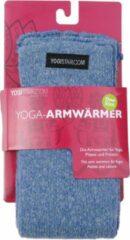 Blauwe Yoga-armwarmers saphire blue - katoen Armwarmers YOGISTAR