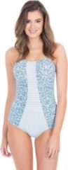 Cabana Life UV beschermend Badpak Dames - Blauw/Wit - Maat 40 (M)
