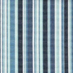 Donkerblauwe Acrisol Bali Azul 1021 gestreept, blauw, wit, zwart stof per meter buitenstoffen, tuinkussens, palletkussens