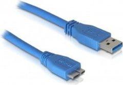 USB micro naar USB A kabel - 3.0 - 2 meter - Blauw - Delock