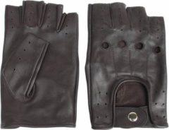 Swift driver vingerloze, leren handschoenen | mannen / vrouwen | donkerbruin | maat XS