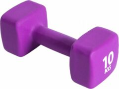 Paarse Pure2Improve Neopreen Dumbell 10 kg