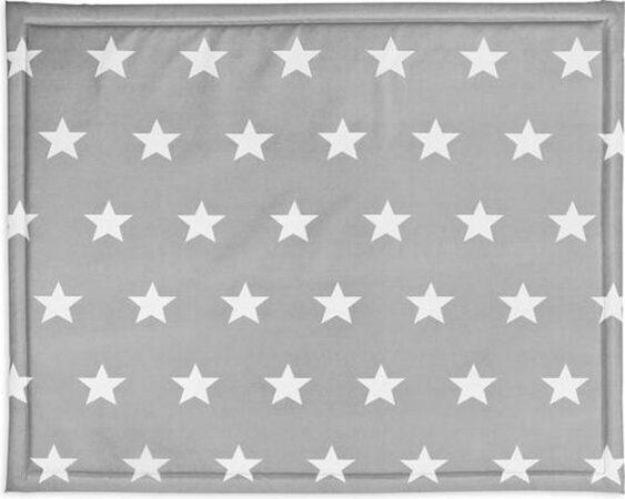 Afbeelding van Grijze Jollein Boxkleed 75x95 cm Little Star dark grey 018-512-65009