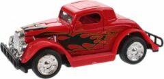 Toi Toys BV Hot Rod Auto Metal Pull Back (Rood) 9 cm Toys - Modelauto - Schaalmodel - Model auto - Miniatuur auto - Miniatuur autos