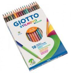 Pastelli Giotto Stilnovo Bicolor da 18 pezzi