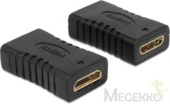 Zwarte Delock Adapter HDMI mini C Buchse <gt/> Buchse Gender Changer