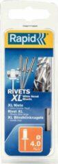 Zilveren Esselte B.V Rapid blindklinknagel rvs + drill 4.0x14mm (50st)