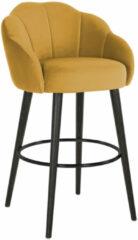 Richmond Interiors Richmond Barstoel 'Tulip' Velvet, kleur Oker (zithoogte 75cm)
