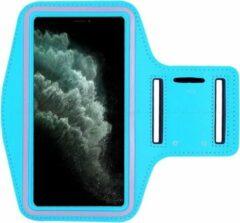 AYME Hardloop sportarmband telefoonhouder voor de iPhone 11 – Telefoonhouder hardlopen Speciaal voor de iPhone 11 – Inclusief ruimte voor een sleutel – Blauw