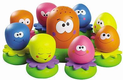 Afbeelding van Tomy badspeelgoed octopusfamilie 9-delig