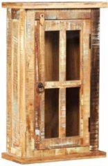 Bruine VidaXL Wandkast 44x21x72 cm massief gerecycled hout