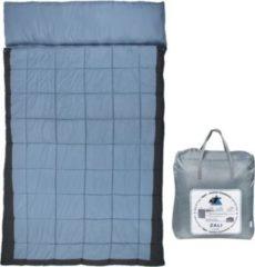 10-T Outdoor Equipment 10T Doppel-Schlafsack ZALI DUO -19° 2 Personen XXL Deckenschlafsack 230x150 Blau / Grau
