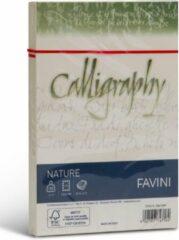 NATURE Ecologisch Upcycle met 15 % gemalen schil van citrusvruchten 25 enveloppen 120 x 180 100 g/m2 kleur citrus geel Agrumi FaVINI rustiek perkament papier