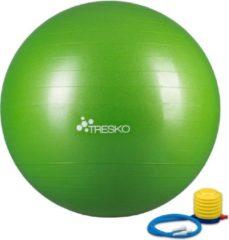 Tresko Fitnessbal met pomp - diameter 75 cm - Groen